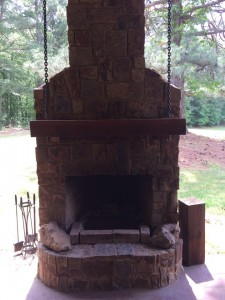 custom outdoor fireplace