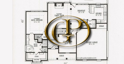 picture of floor plan with GP logo