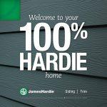 100% Hardie Home Emblem